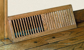 Wood Basevent Source...wood floor basevents & baseboard angled air grilles